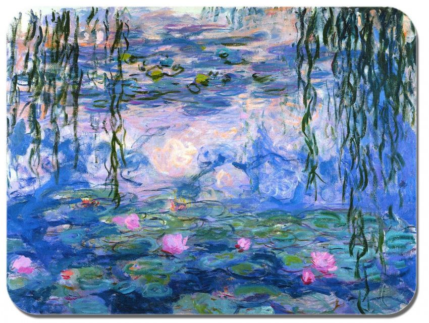 Claude Monet Water Lilies Mouse Mat. High Quality Art Print Mouse Pad